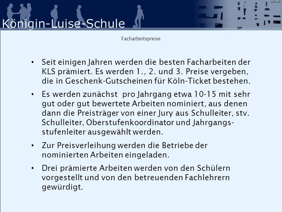 Facharbeitspreise 2014 Die prämierten Facharbeiten 2014 : 3.