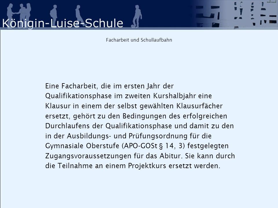 Schulspezifische Festlegung: Praktikum in 11.I Termin: Januar/ Februar (für den Abiturjahrgang 2016: 19.