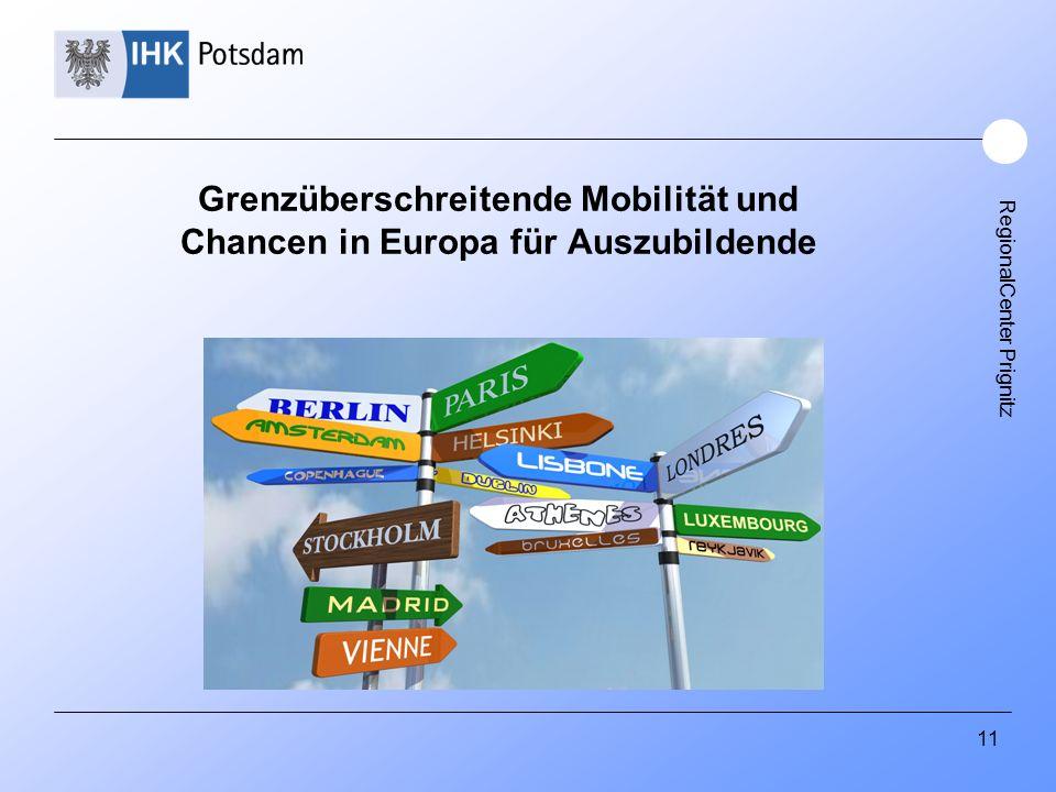 RegionalCenter Prignitz Grenzüberschreitende Mobilität und Chancen in Europa für Auszubildende 11