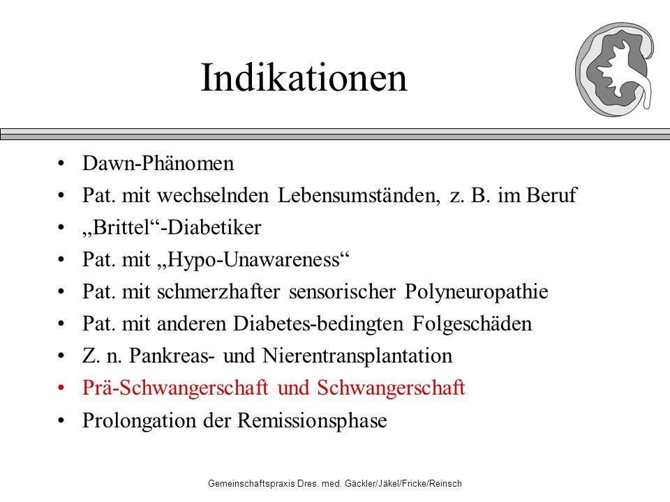 Gemeinschaftspraxis Dres. med. Gäckler/Jäkel/Fricke/Reinsch Indikationen Dawn-Phänomen Pat.