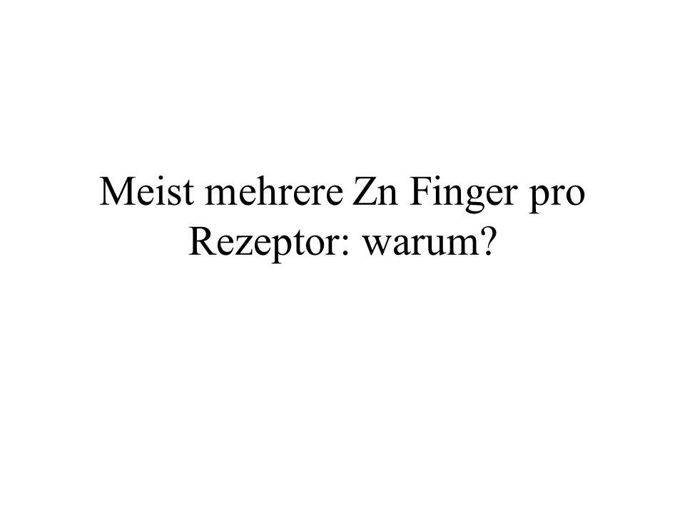 Meist mehrere Zn Finger pro Rezeptor: warum?