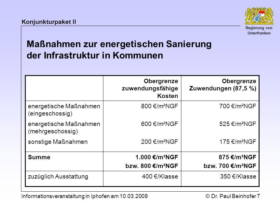 Konjunkturpaket II Regierung von Unterfranken Informationsveranstaltung in Iphofen am 10.03.2009© Dr.