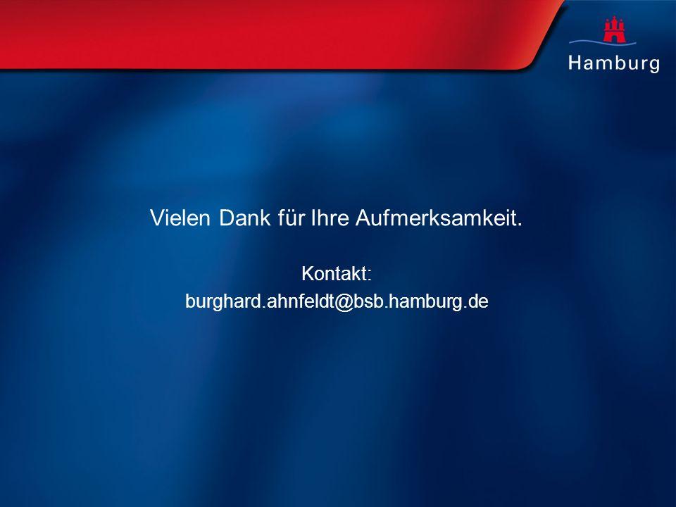 Vielen Dank für Ihre Aufmerksamkeit. Kontakt: burghard.ahnfeldt@bsb.hamburg.de