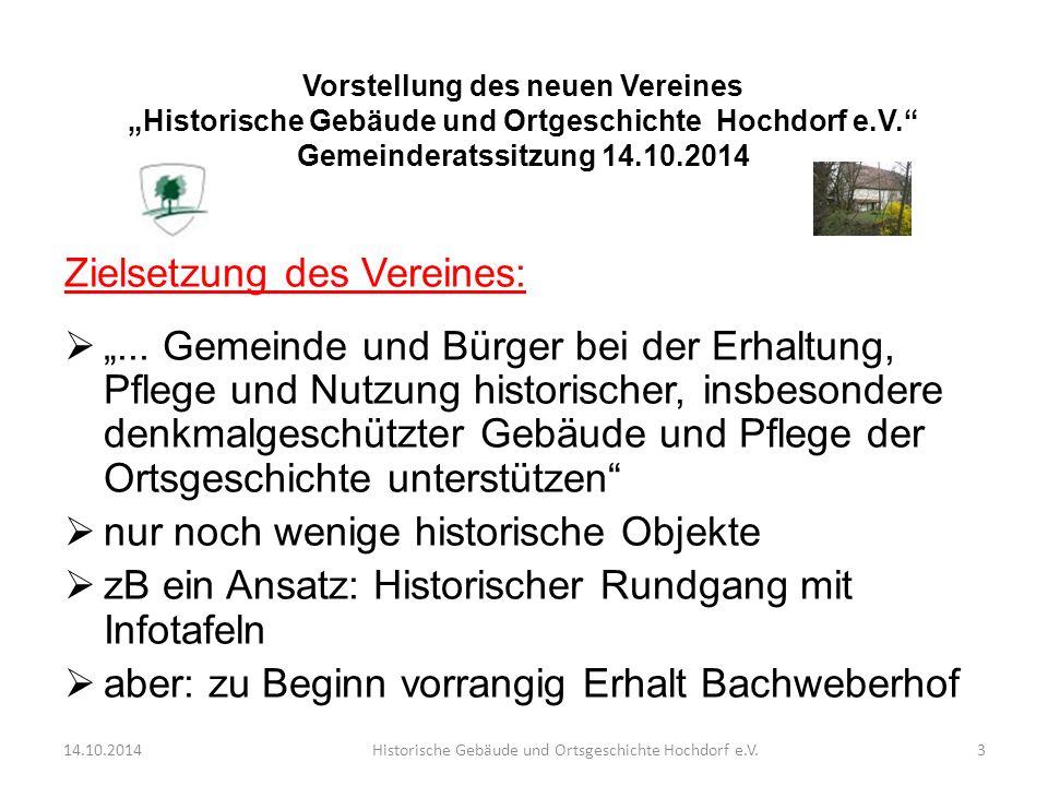 """Zielsetzung des Vereines:  """"..."""