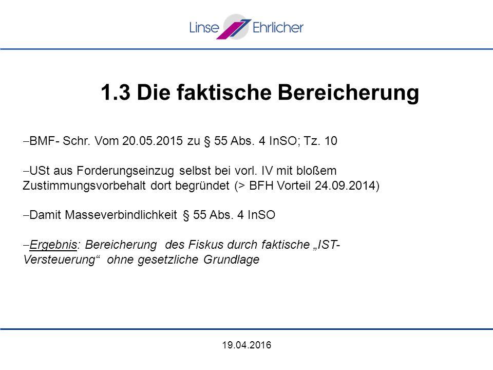 19.04.2016  BMF- Schr. Vom 20.05.2015 zu § 55 Abs.