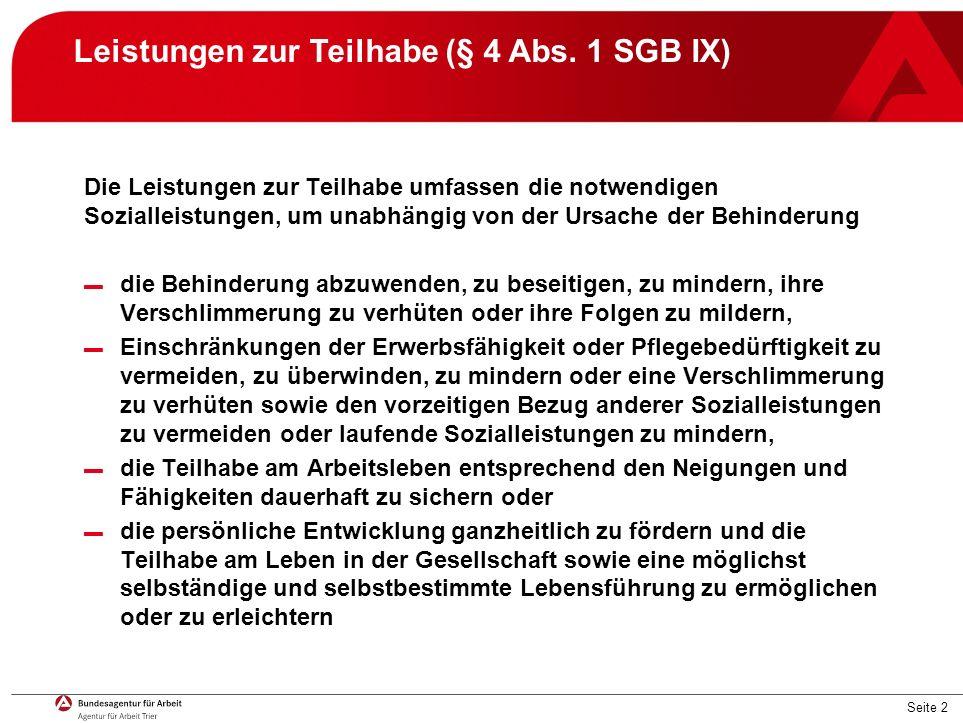 Seite 2 Leistungen zur Teilhabe (§ 4 Abs.