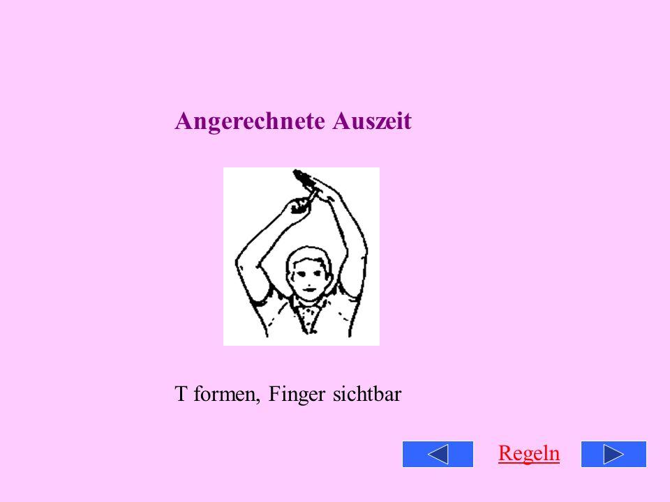 Zeit aus Offene Handfläche, Finger zusammen Regeln