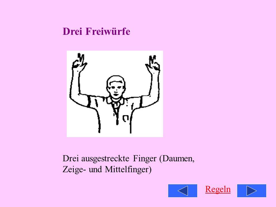 Zwei Freiwürfe Finger zusammen Regeln