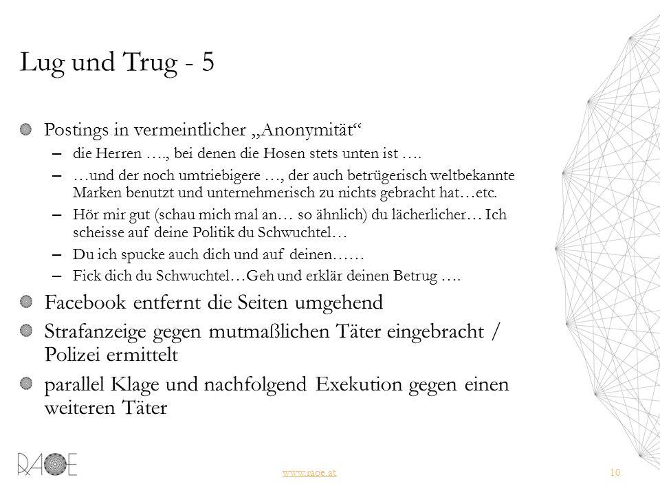 """Lug und Trug - 5 Postings in vermeintlicher """"Anonymität – die Herren …., bei denen die Hosen stets unten ist …."""