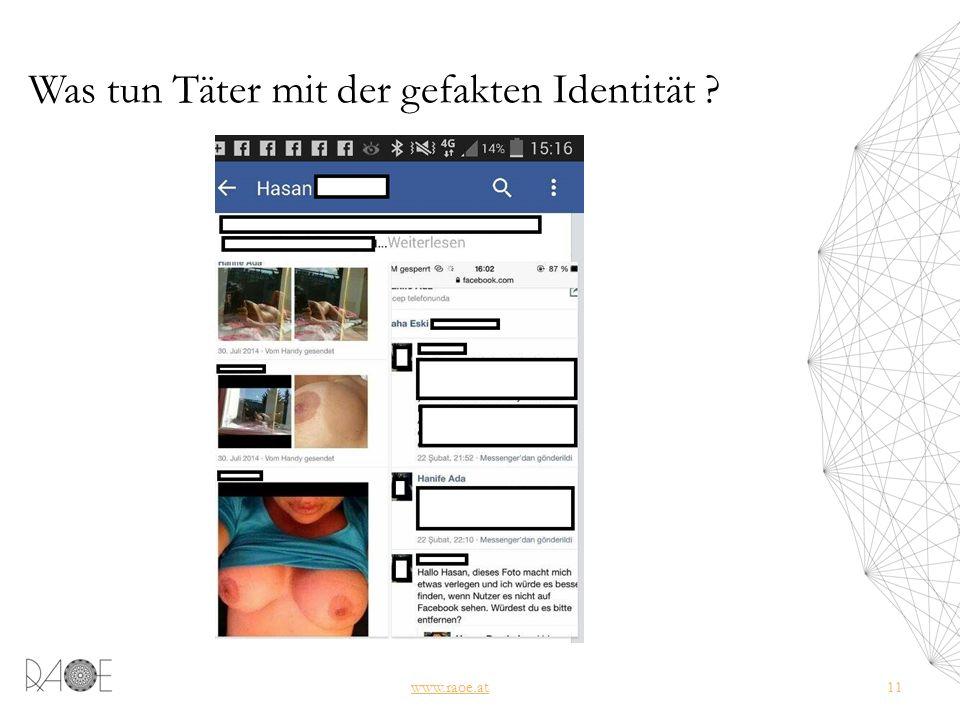 Was tun Täter mit der gefakten Identität www.raoe.at11