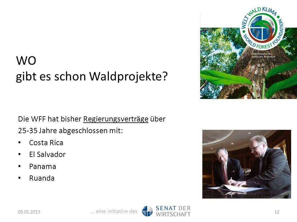 … eine Initiative des WO gibt es schon Waldprojekte.