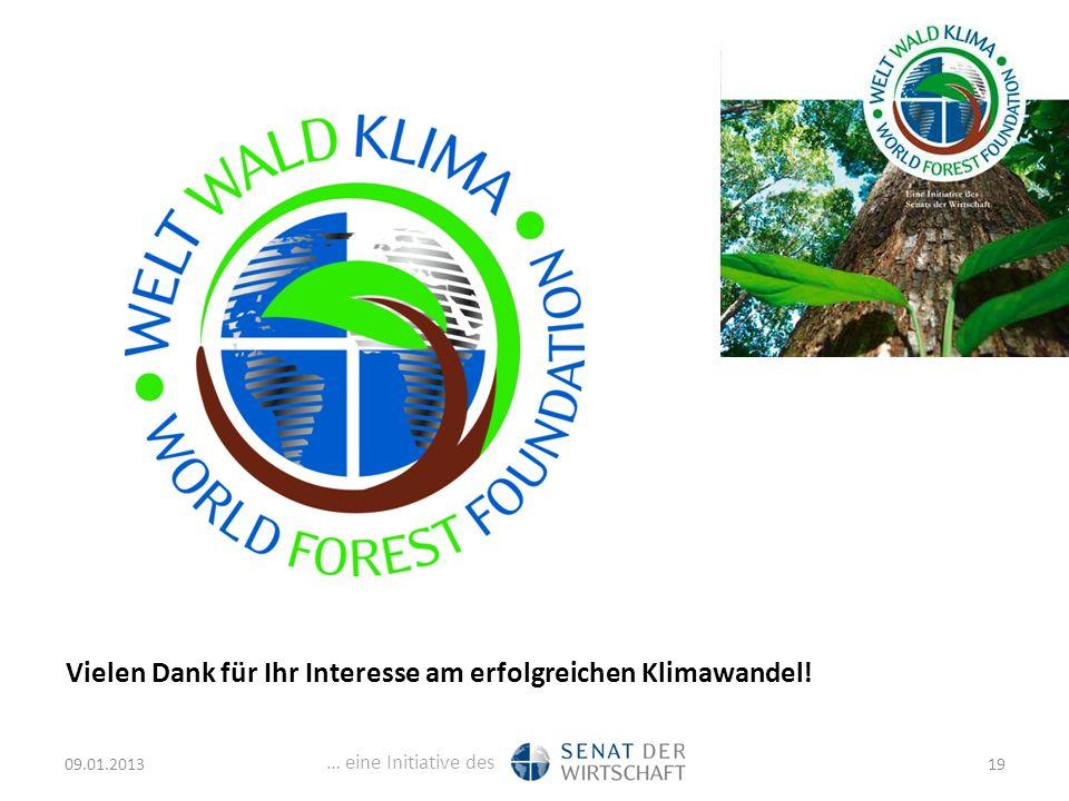 … eine Initiative des Vielen Dank für Ihr Interesse am erfolgreichen Klimawandel! 09.01.201319