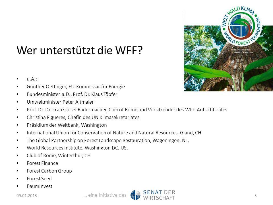 … eine Initiative des Wer unterstützt die WFF.