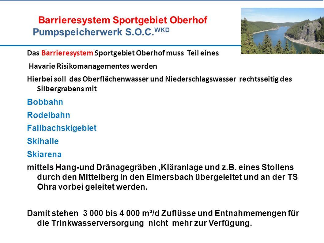 Barrieresystem Sportgebiet Oberhof Pumpspeicherwerk S.O.C.
