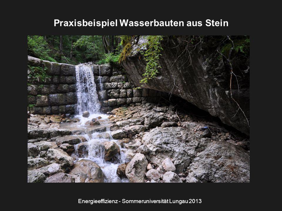 Energieeffizienz - Sommeruniversität Lungau 2013 Praxisbeispiel Wasserbauten aus Stein