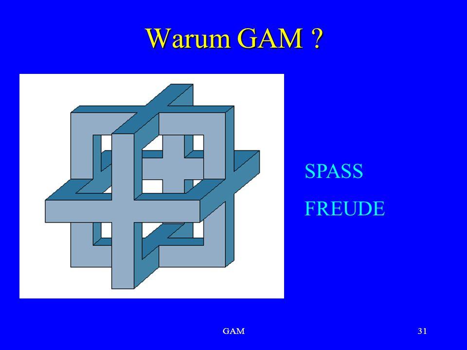 GAM31 Warum GAM SPASS FREUDE