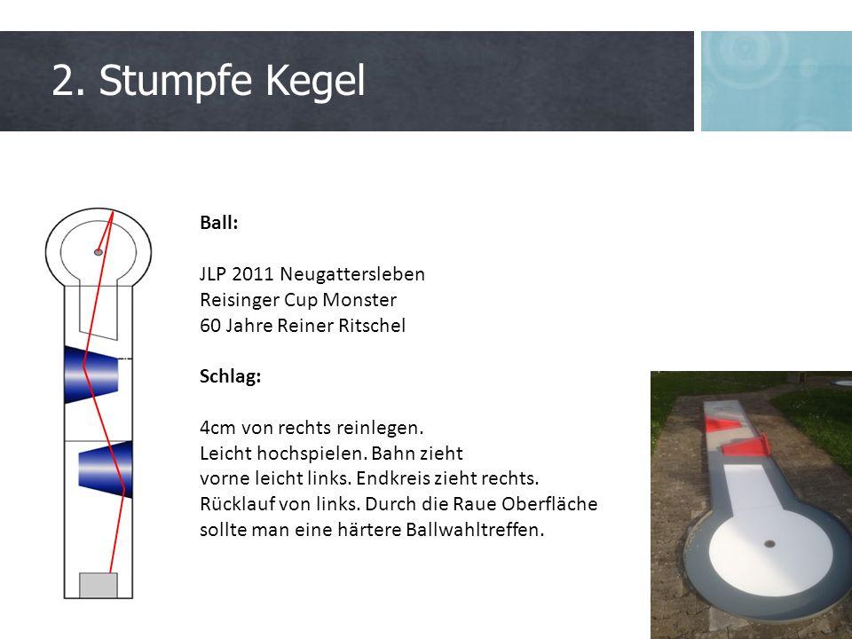 2. Stumpfe Kegel Ball: JLP 2011 Neugattersleben Reisinger Cup Monster 60 Jahre Reiner Ritschel Schlag: 4cm von rechts reinlegen. Leicht hochspielen. B
