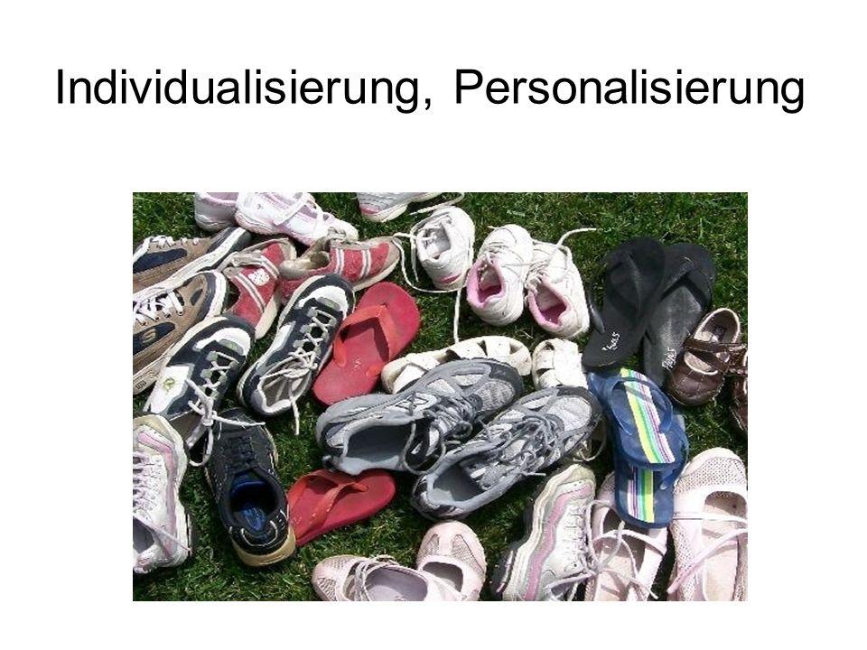 Individualisierung, Personalisierung