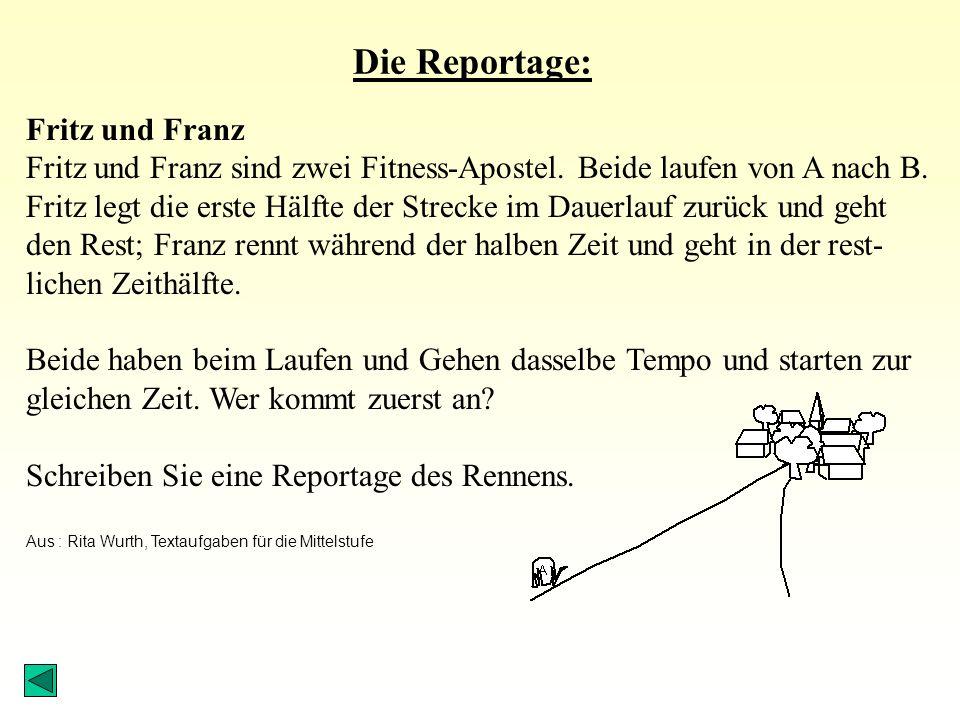 Die Reportage: Fritz und Franz Fritz und Franz sind zwei Fitness-Apostel.