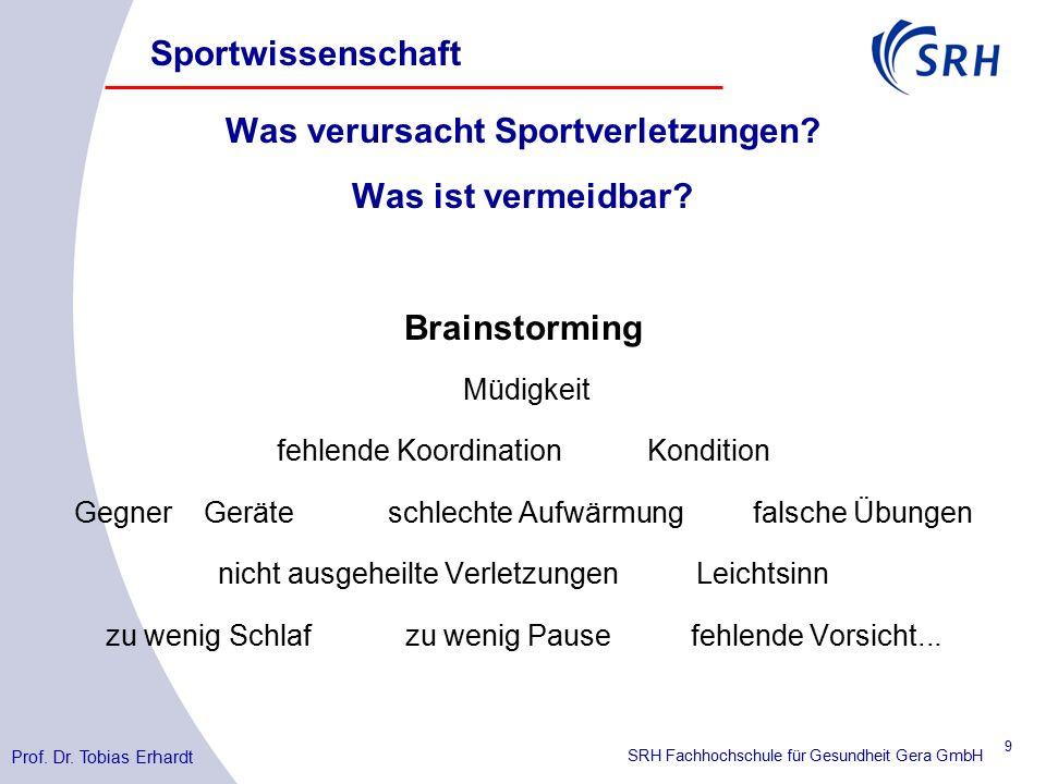 SRH Fachhochschule für Gesundheit Gera GmbH Was verursacht Sportverletzungen.