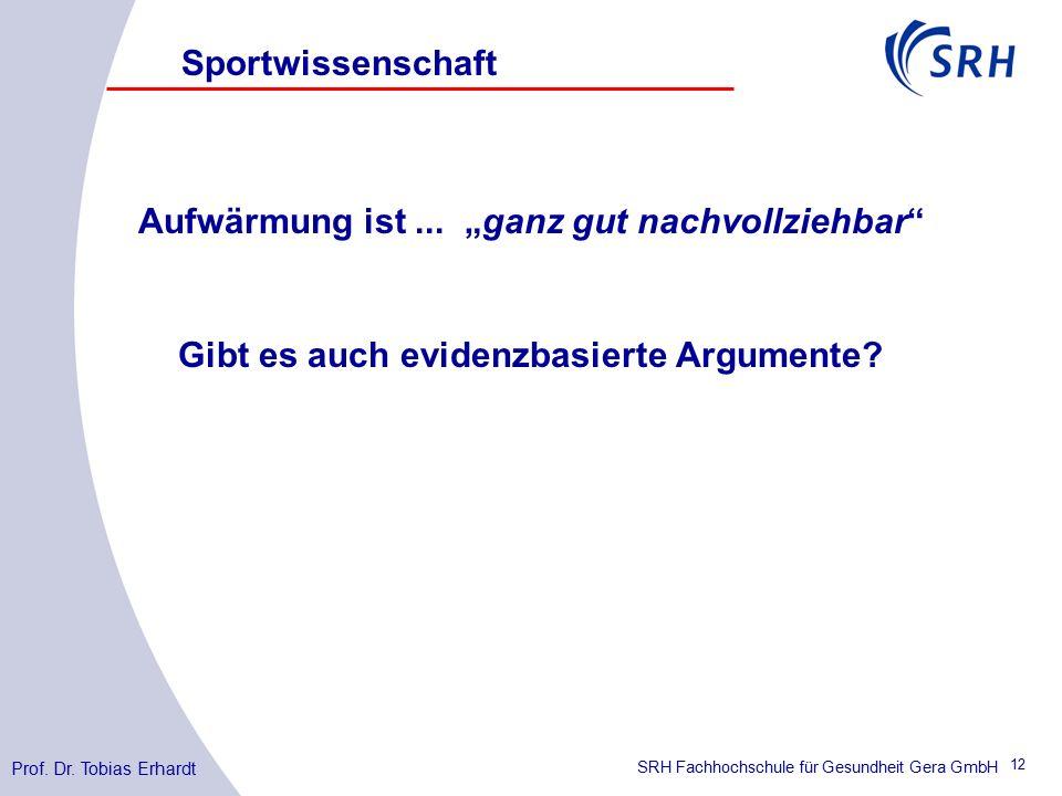 SRH Fachhochschule für Gesundheit Gera GmbH Aufwärmung ist...