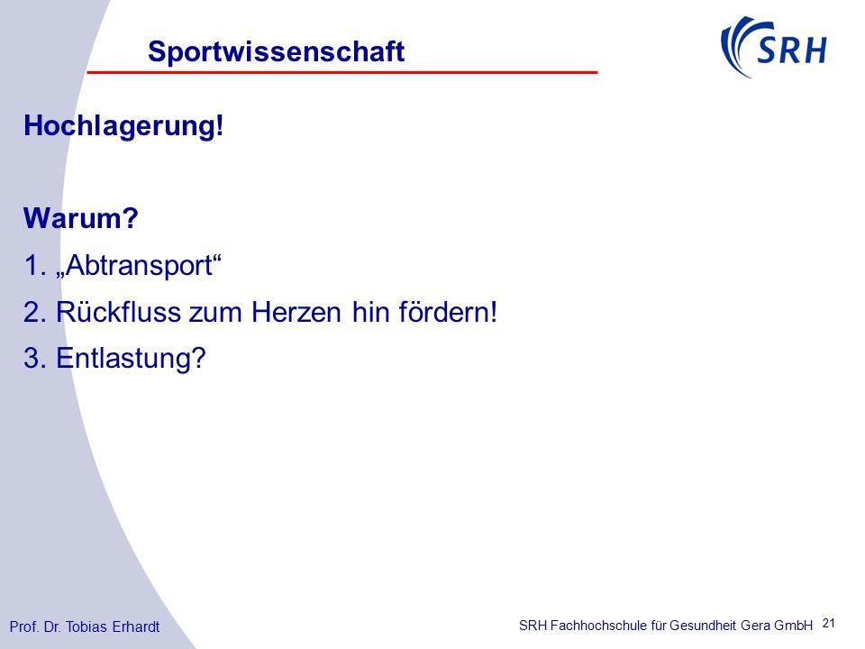SRH Fachhochschule für Gesundheit Gera GmbH Hochlagerung.