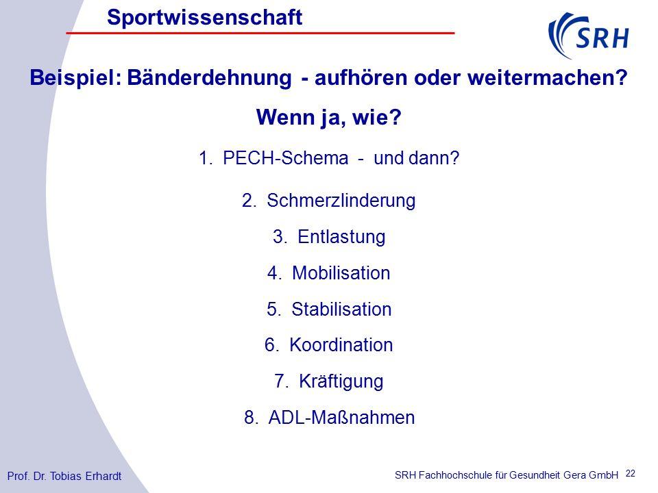 SRH Fachhochschule für Gesundheit Gera GmbH Prof. Dr.
