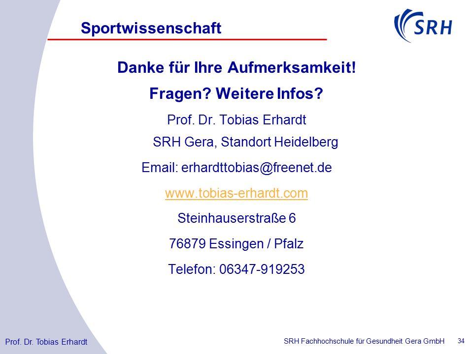 SRH Fachhochschule für Gesundheit Gera GmbH Danke für Ihre Aufmerksamkeit.