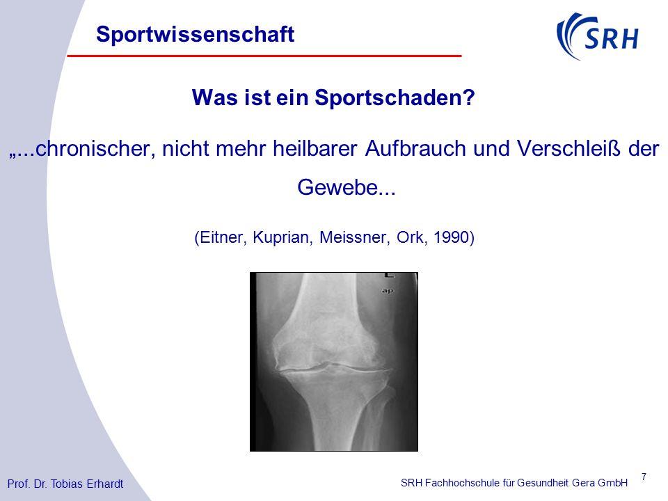SRH Fachhochschule für Gesundheit Gera GmbH Sportwissenschaft Was ist ein Sportschaden.