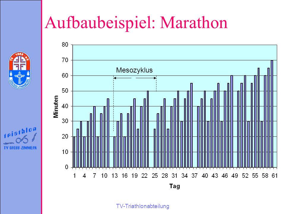 TV-Triathlonabteilung Aufbaubeispiel: Marathon Mesozyklus