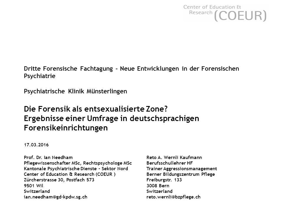 Dritte Forensische Fachtagung – Neue Entwicklungen in der Forensischen Psychiatrie Psychiatrische Klinik Münsterlingen Die Forensik als entsexualisierte Zone.