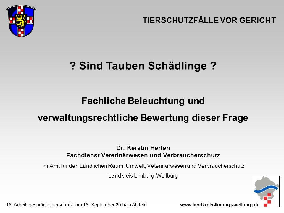 TIERSCHUTZFÄLLE VOR GERICHT Dr.