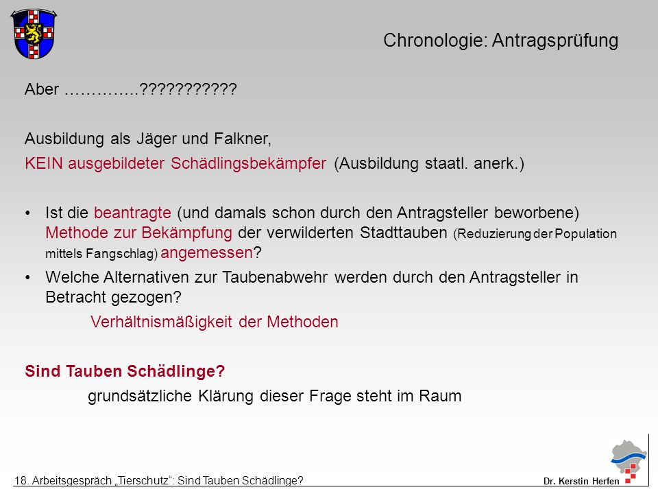 Chronologie: Antragsprüfung Aber …………..??????????.