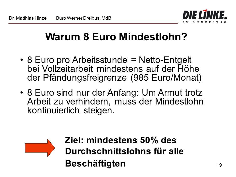 19 Warum 8 Euro Mindestlohn.