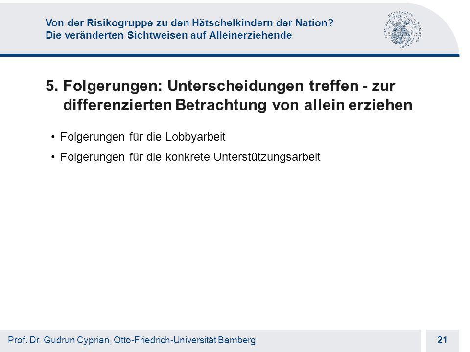 Otto-Friedrich-Universität Bamberg 21 Prof. Dr.