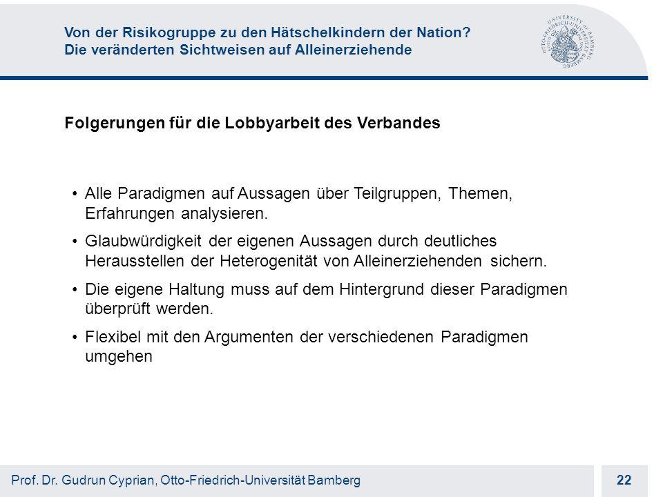 Otto-Friedrich-Universität Bamberg 22 Prof. Dr.