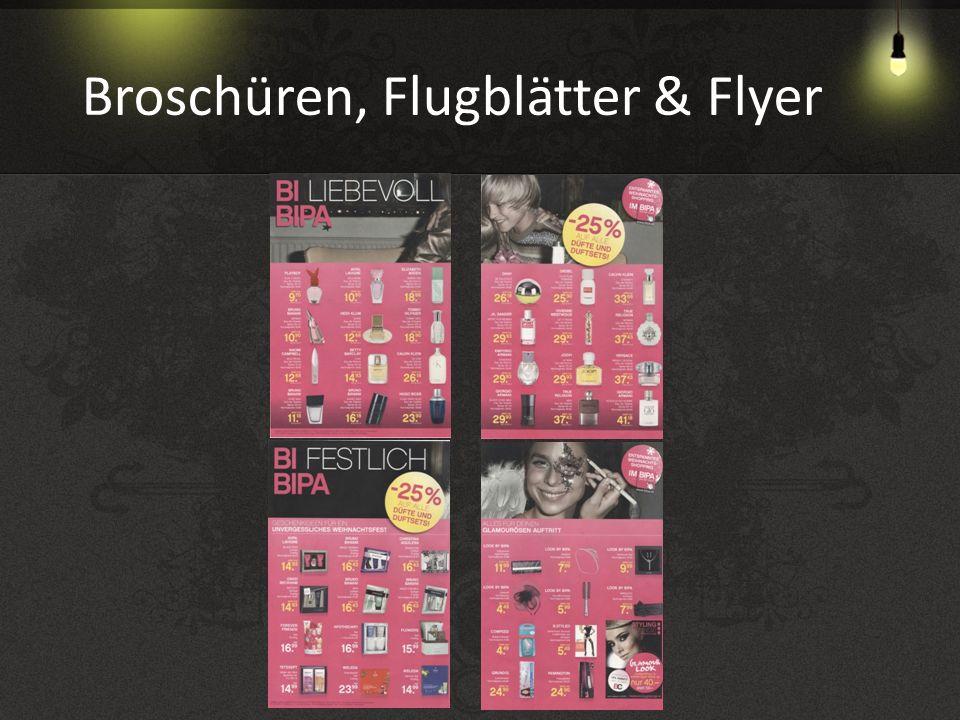 Broschüren, Flugblätter & Flyer