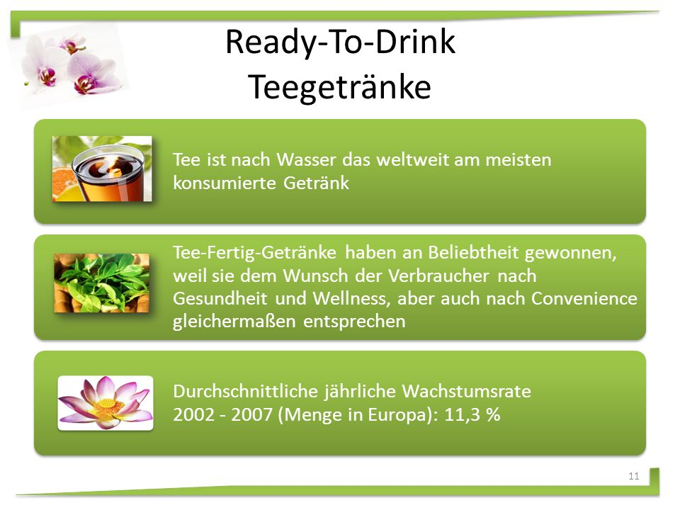 Internationale Getränke Wachstumskategorien Energy DrinksFlavored WaterSportgetränke Ready-to-drink Teegetränke Schorlen Biermischgetränke Near WaterSojagetränke 10