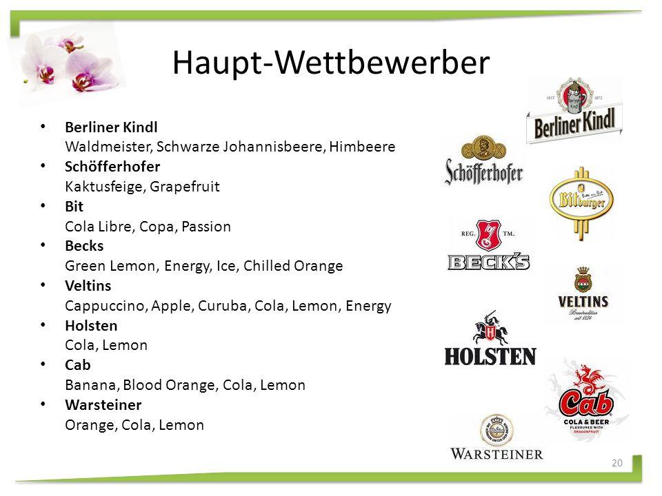 Produktlinie Karlsberg Mixery Bier + Cola + XBier + Cherry + XBlend Vodka Flavour iced energy + X Flovour iced lemon +X 19