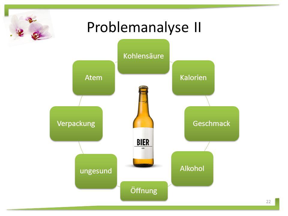 Problemanalyse I Welche Probleme weisen bestehende Karlsberg Mixery Produkte auf, die auf dem Markt angeboten werden.
