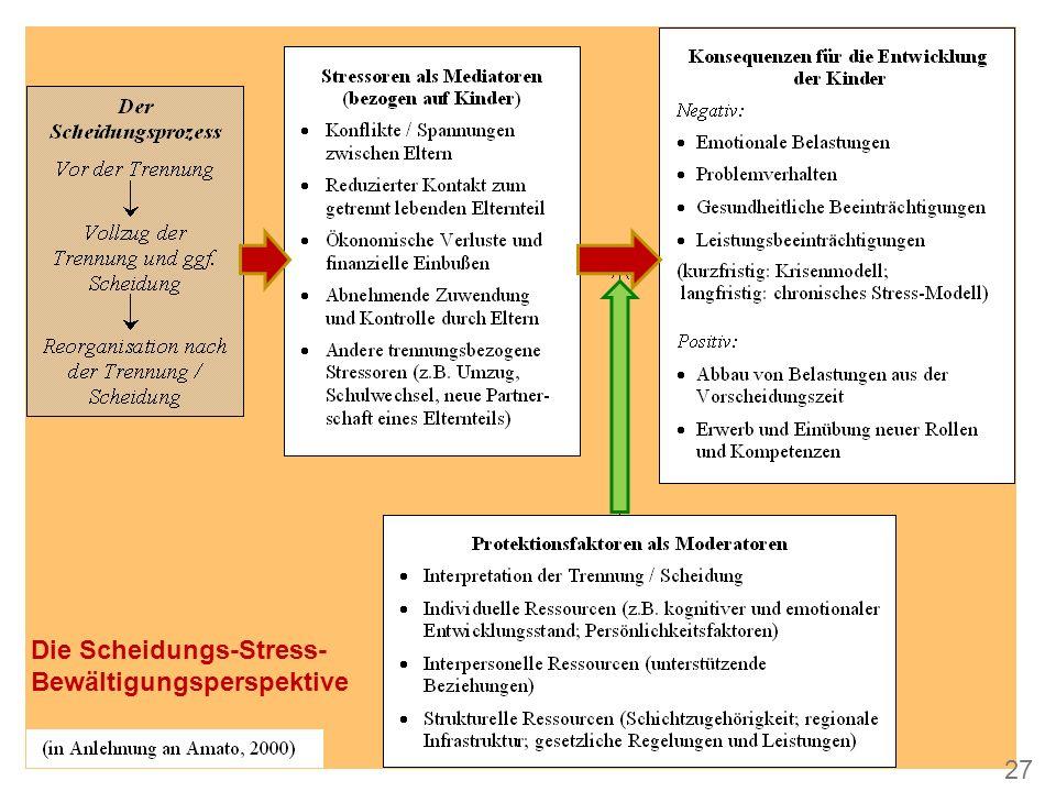 Die Scheidungs-Stress- Bewältigungsperspektive 27