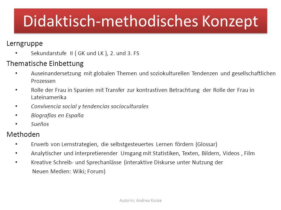 Didaktisch-methodisches Konzept Lerngruppe Sekundarstufe II ( GK und LK ), 2.
