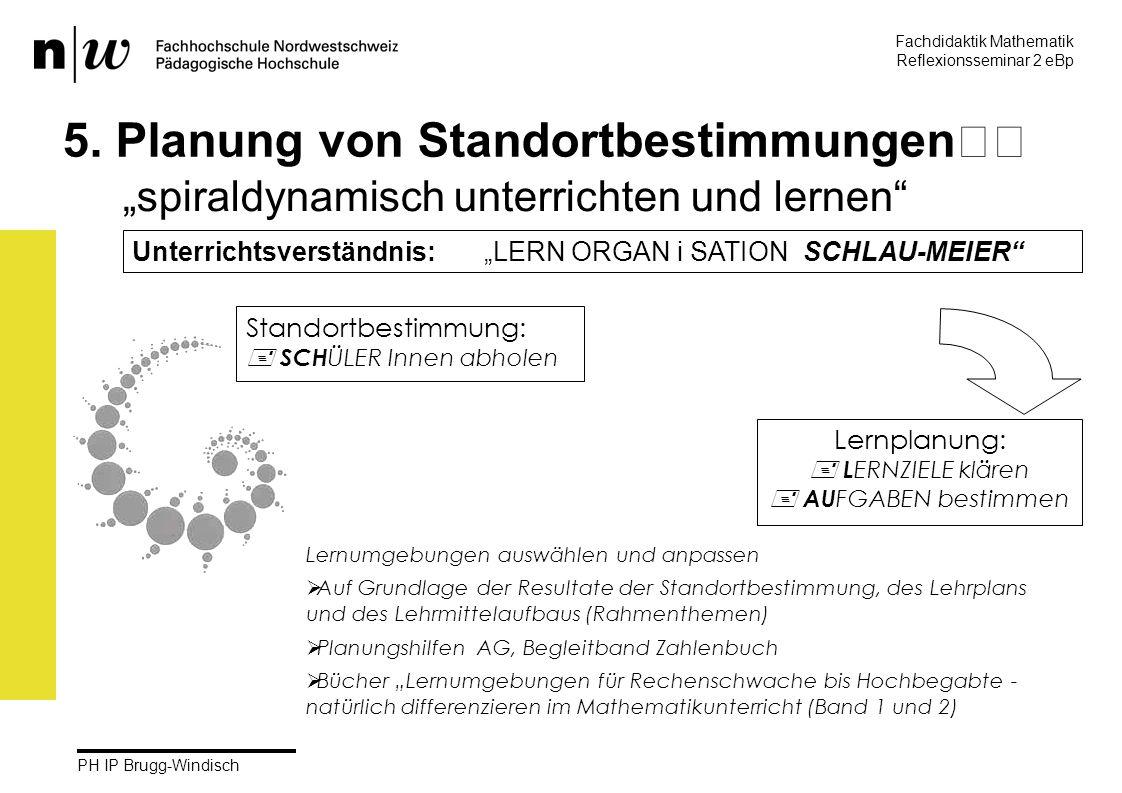 Fachdidaktik Mathematik Reflexionsseminar 2 eBp martin.rothenbacher@fhnw.ch PH IP Brugg-Windisch 29 5.