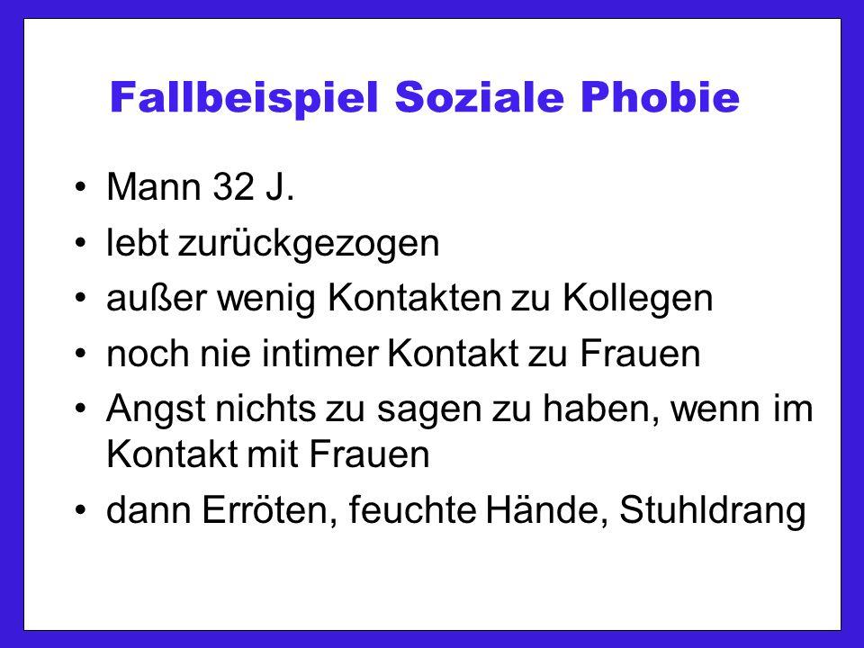 Fallbeispiel Soziale Phobie Mann 32 J.
