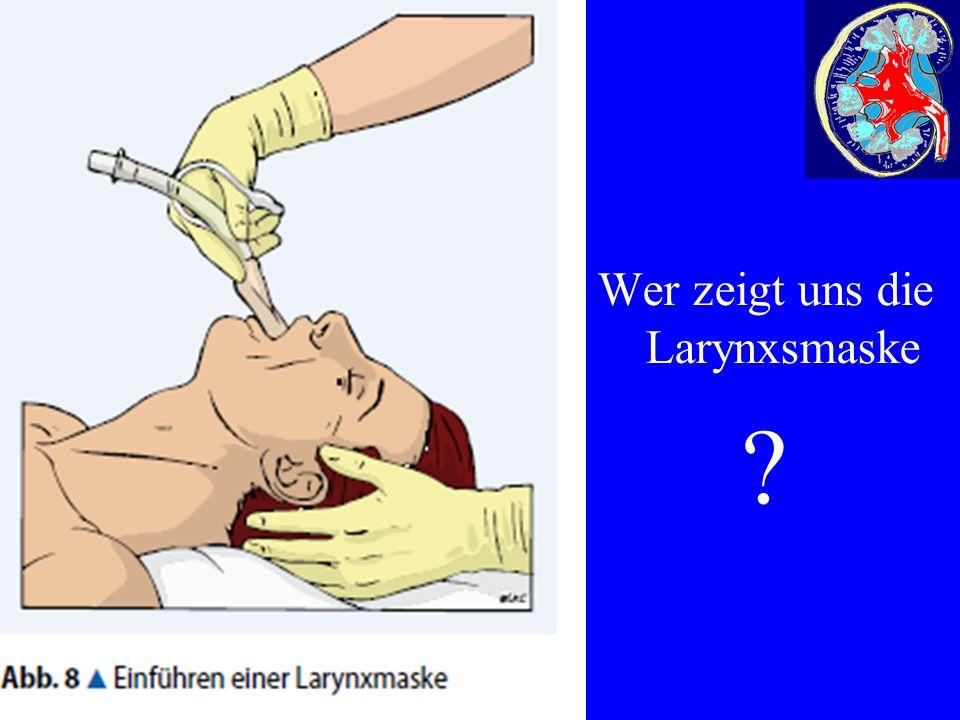 Wer zeigt uns die Larynxsmaske ?