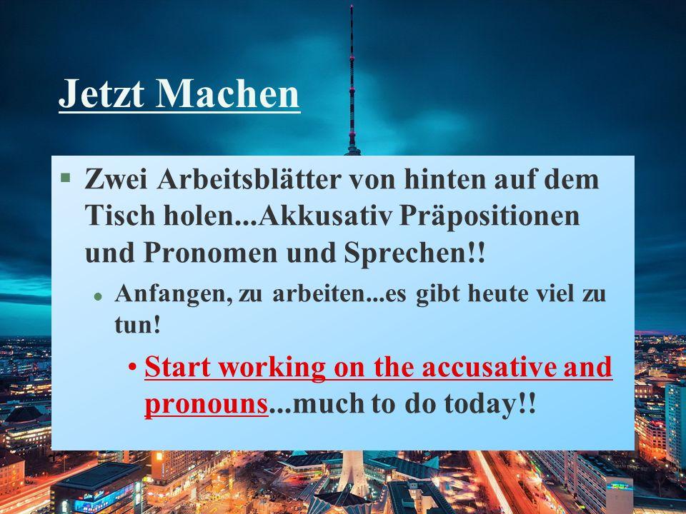 The Daily Double Das Problem: Bilden Sie Sätze.Beispiel: Ich/ um halb neun/ haben/Kunst.