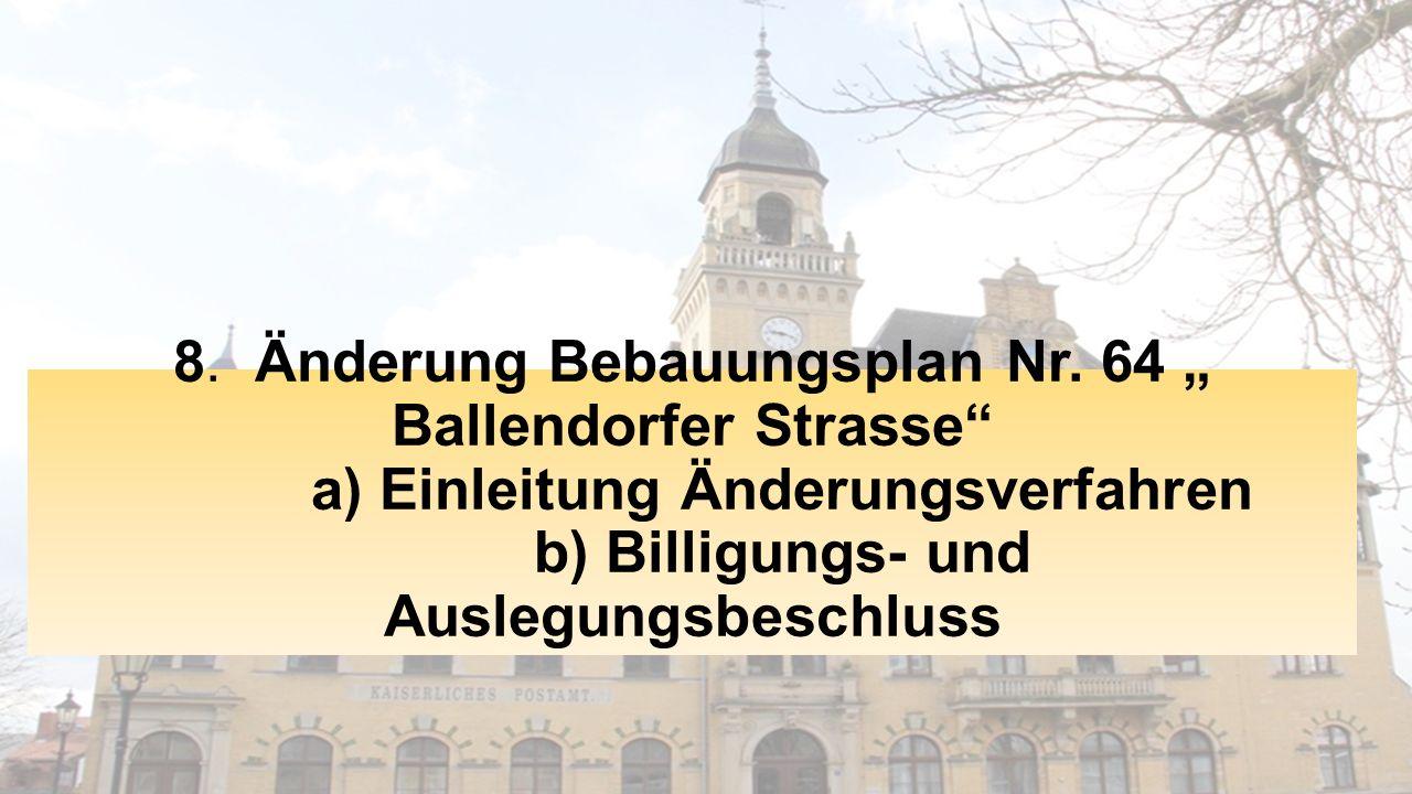 8. Änderung Bebauungsplan Nr.