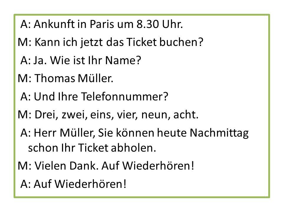 2.Herr Müller auf dem Flughafen.