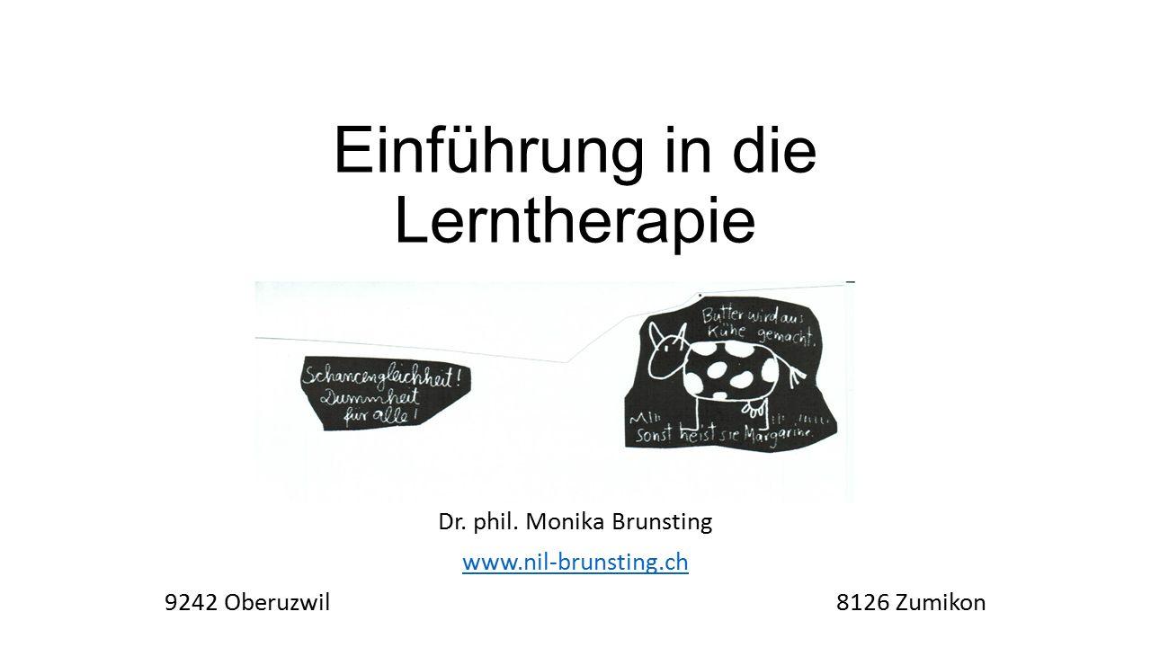Einführung in die Lerntherapie Dr. phil.