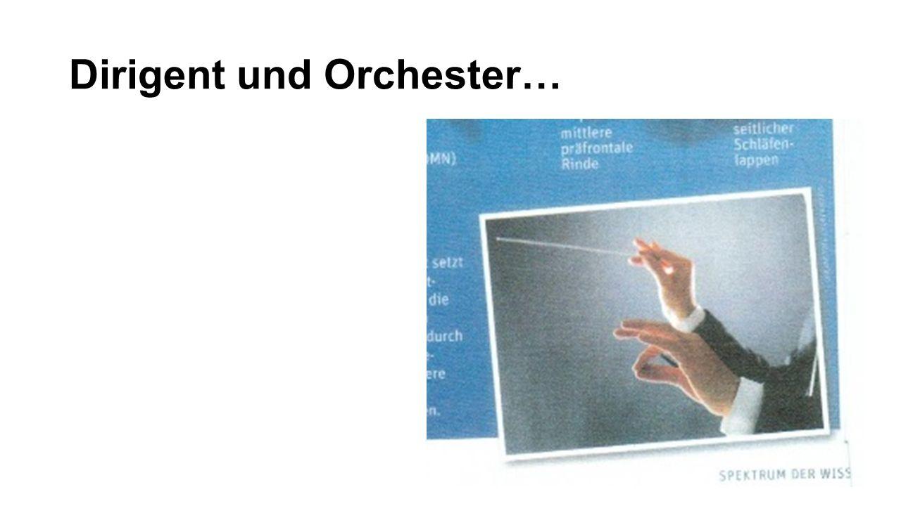 Dirigent und Orchester…